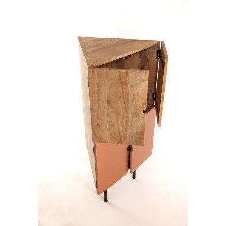 meuble d angle design bois armoire en