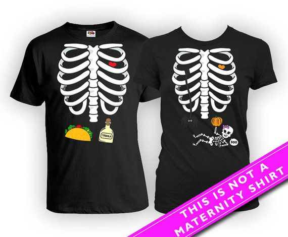 b3c5e8acd3beb Matching Pregnancy Baby Boy Skeleton Shirt And Taco and Tequila T Shirt For  the… Maternity Halloween T Shirt Pregnancy Announcement Shirt Skeleton  Costume ...