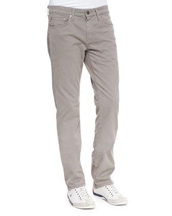 J Brand Jeans Kane Leather-Wash Jeans
