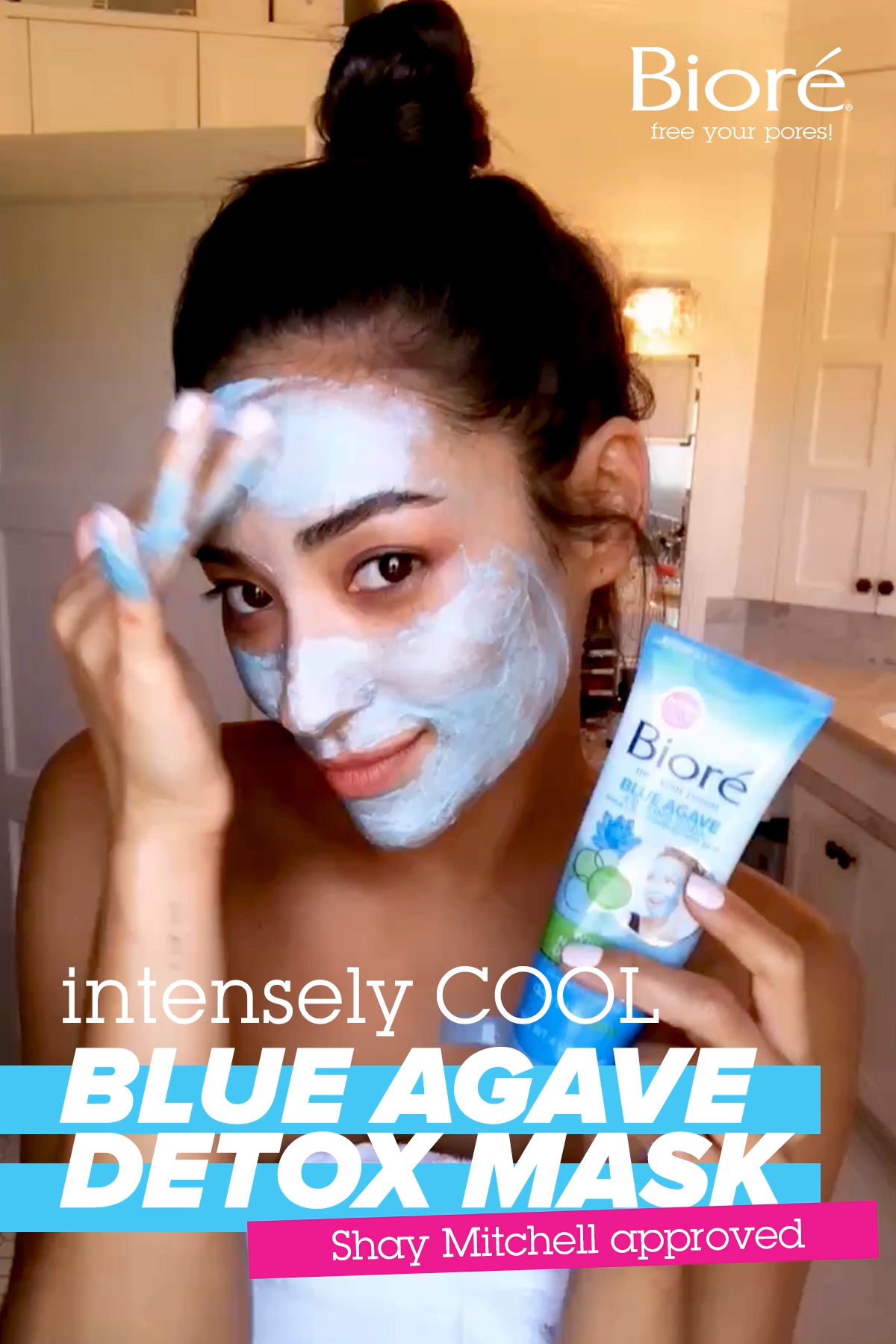 Shay Mitchell LOVES our Intense Blue Agave Whipped Detox Mask