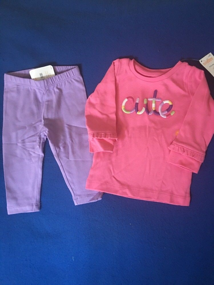 """NWT Gymboree 6-12 Months Girl's Two Piece """"Cute"""" Outfit Set #Gymboree"""