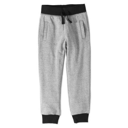 DKNY Boys Marled Fleece Pull on Jog Pant