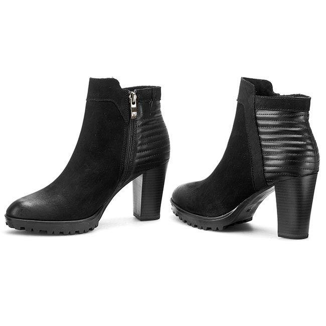 Magasított cipő CAPRICE - 9-25403-25 Black Nubuck 008  a118cc03da