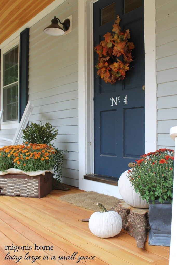 Fall Front Porch 2014 Front porches, Front porch decorations and Porch - large outdoor halloween decorations