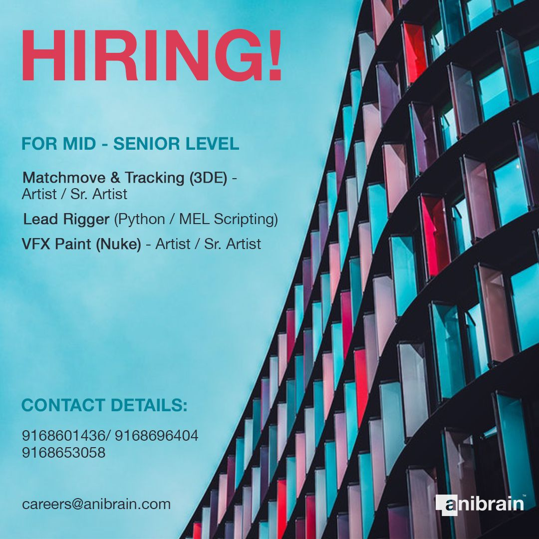 Vfx And Animation Jobs At Anibrain Vfx Pune India Learning And Development Job Opening Office Politics