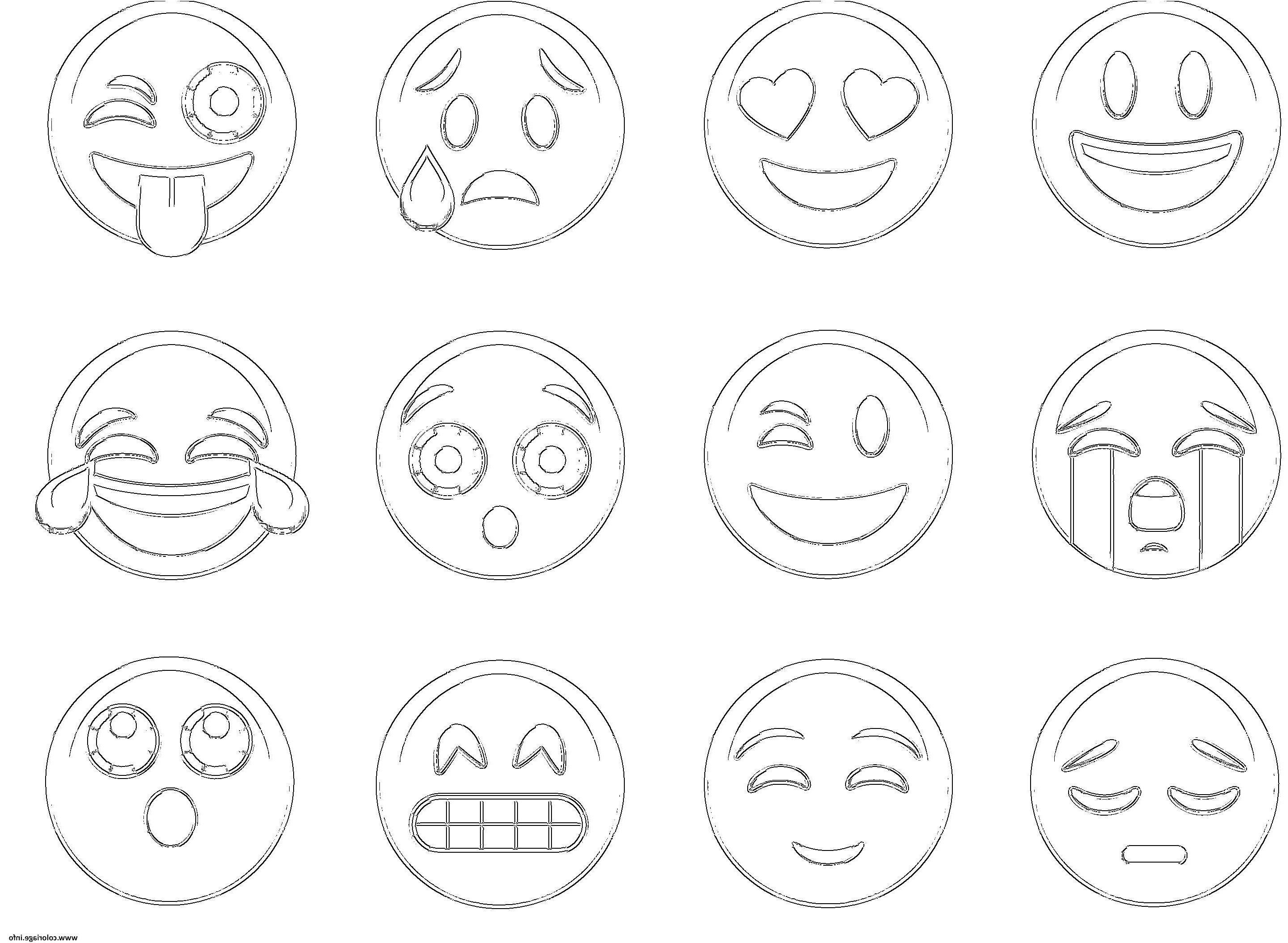 32 Nice Coloriage À Imprimer Emoji Collection