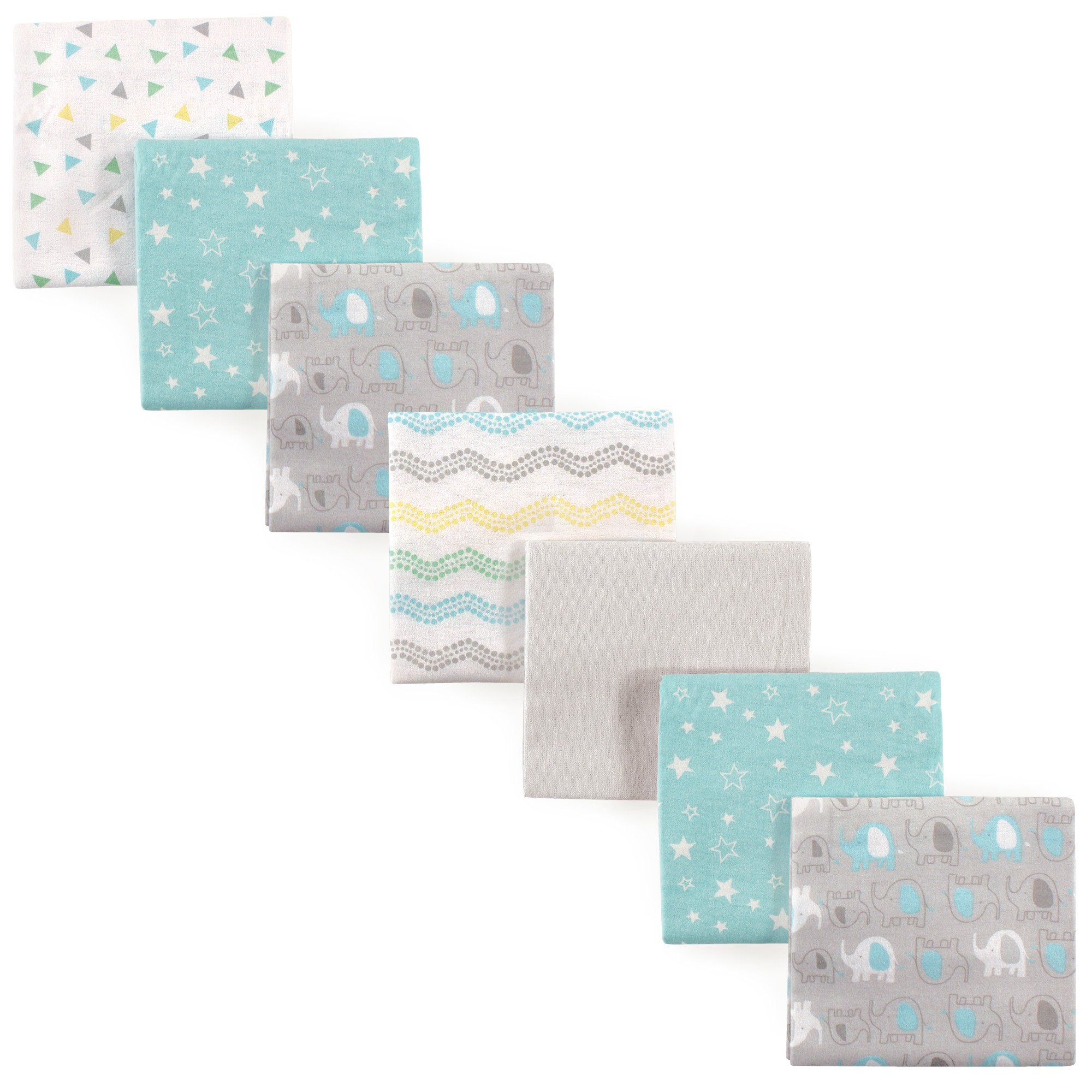Blue Luvable Friends Flannel Receiving Blankets 4 Count
