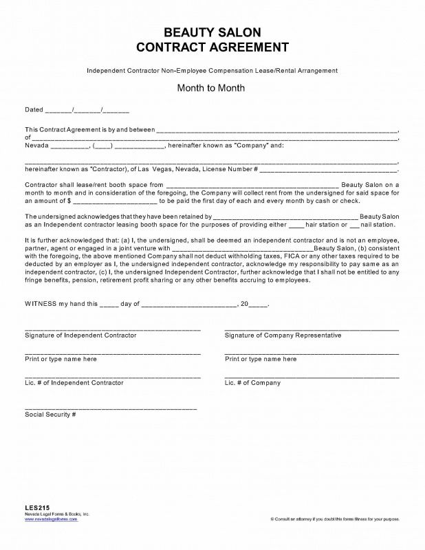 Beauty Salon Independent Contractor Agreement Template Booth Rental Agreement Salon Booth Rental Agreement Rental Agreements