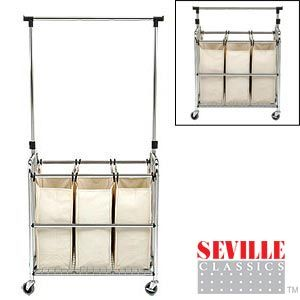 Clothes Drying Rack Costco Extraordinary Seville Classics® Laundry Sorter Ii With Adjustable Hanger Bar$45 2018