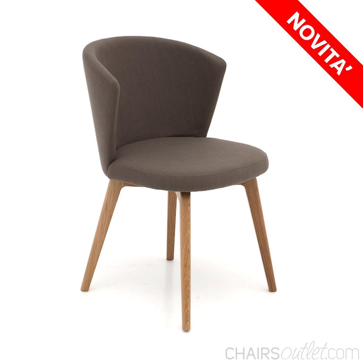 SCONTO 50% Ines 6 Sedia di design con base in legno di
