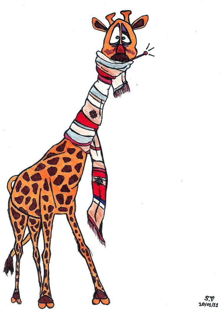 Моей любимой, рисунок веселый жираф