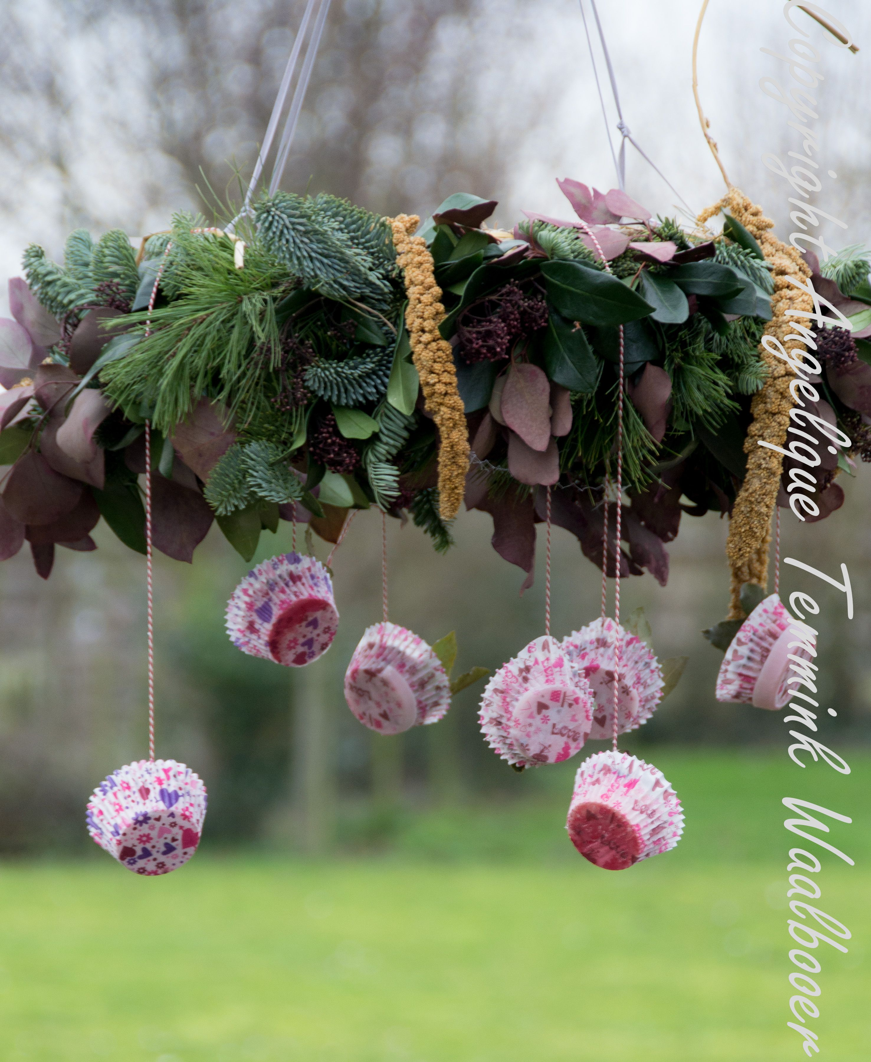 Birdfeeder made from my old Christmas wreath