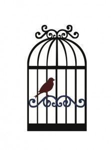 Open Birdcage Silhouette Free SVG File D...