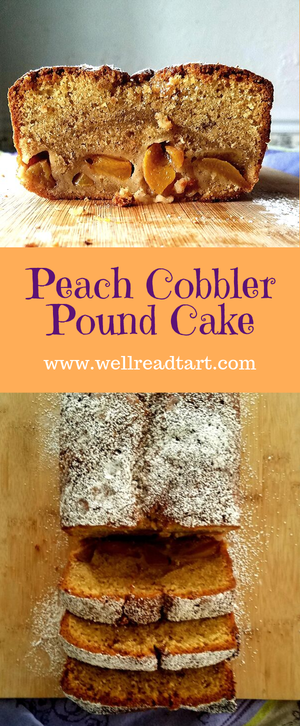Peach Cobbler Pound Cake #peachcobblerpoundcake Brown sugar pound cake meets fruity peach cobbler. #poundcake #peachcobbler #desserts #dessertrecipes #recipes #peaches #frozenpeaches #bookinspiredrecipe #awellreadtart #gloryroad #laurenkdutton #desserts #easydesserts #cakerecipes #cakes #fruitydesserts #peachcobblerpoundcake Peach Cobbler Pound Cake #peachcobblerpoundcake Brown sugar pound cake meets fruity peach cobbler. #poundcake #peachcobbler #desserts #dessertrecipes #recipes #peaches #froz #peachcobblerpoundcake