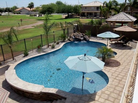 Arizona Free Form Pools By Cameo Pools Stonelock