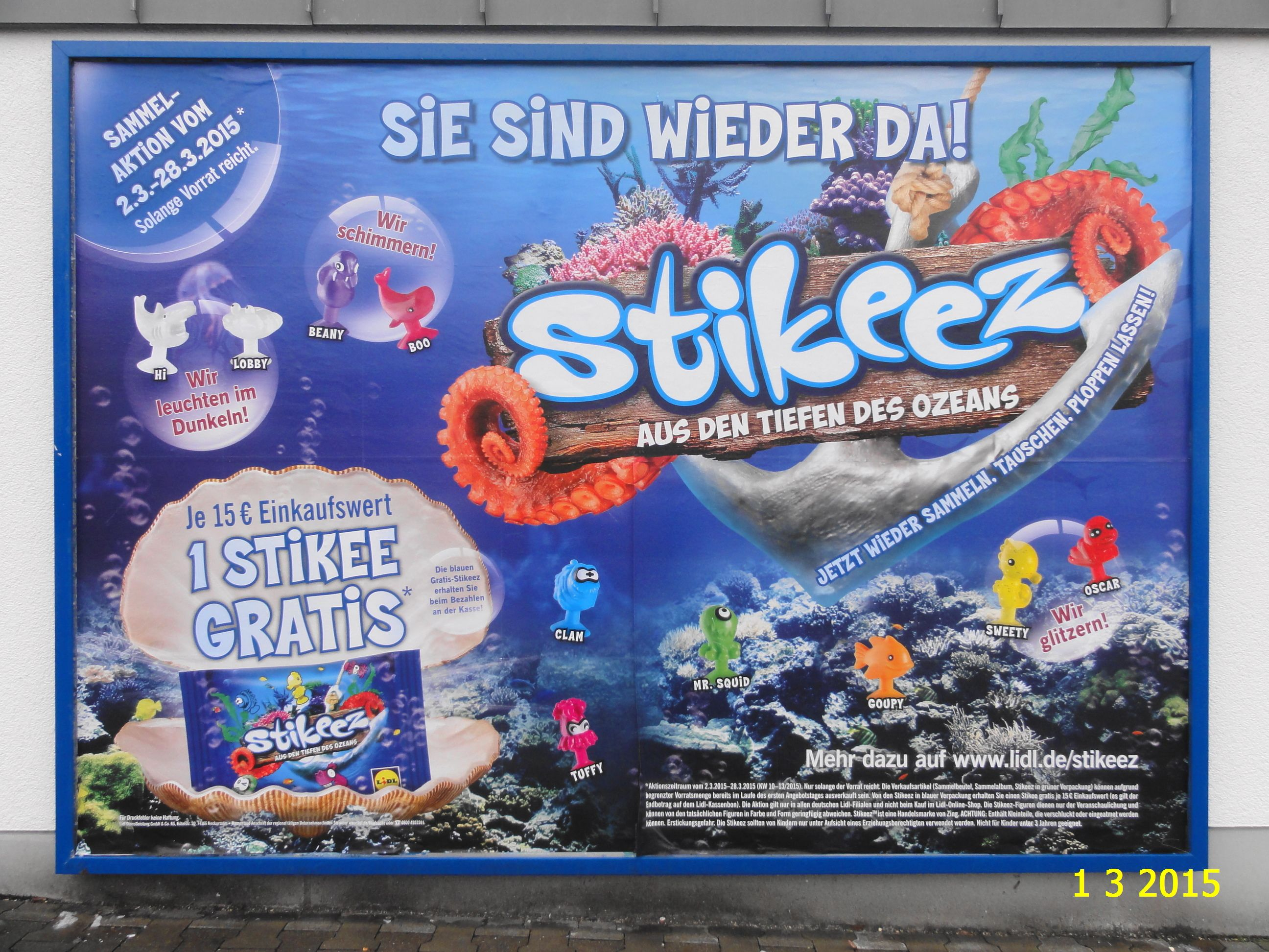 500. - Plakat in Stockach. / 01.03.2015./