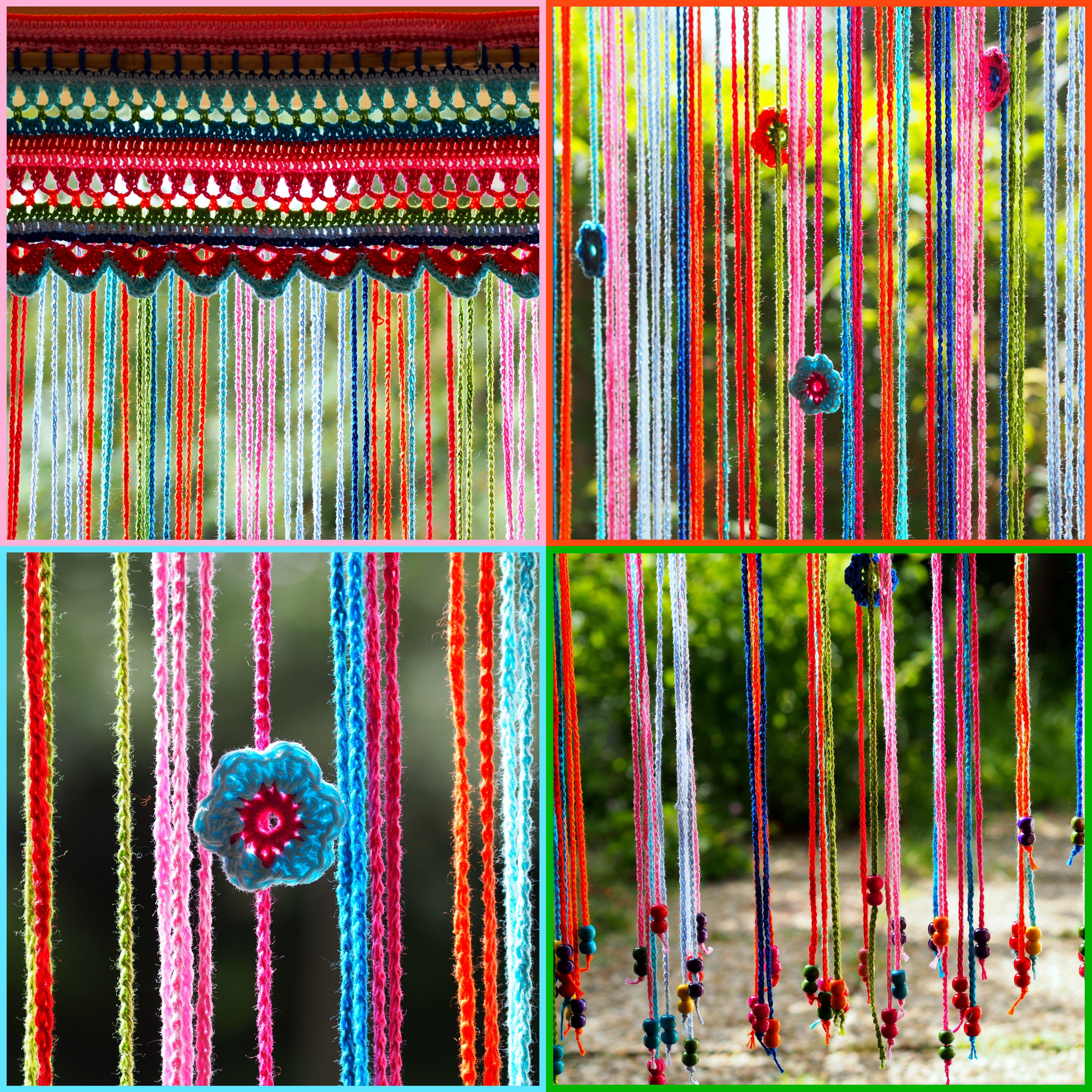 Kleurig vliegengordijn made by me. (naar patroon uit http://1.bp ...