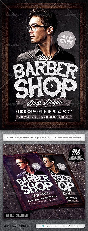 Barbershop Flyer Template | Adobe, Scissors and Shaving