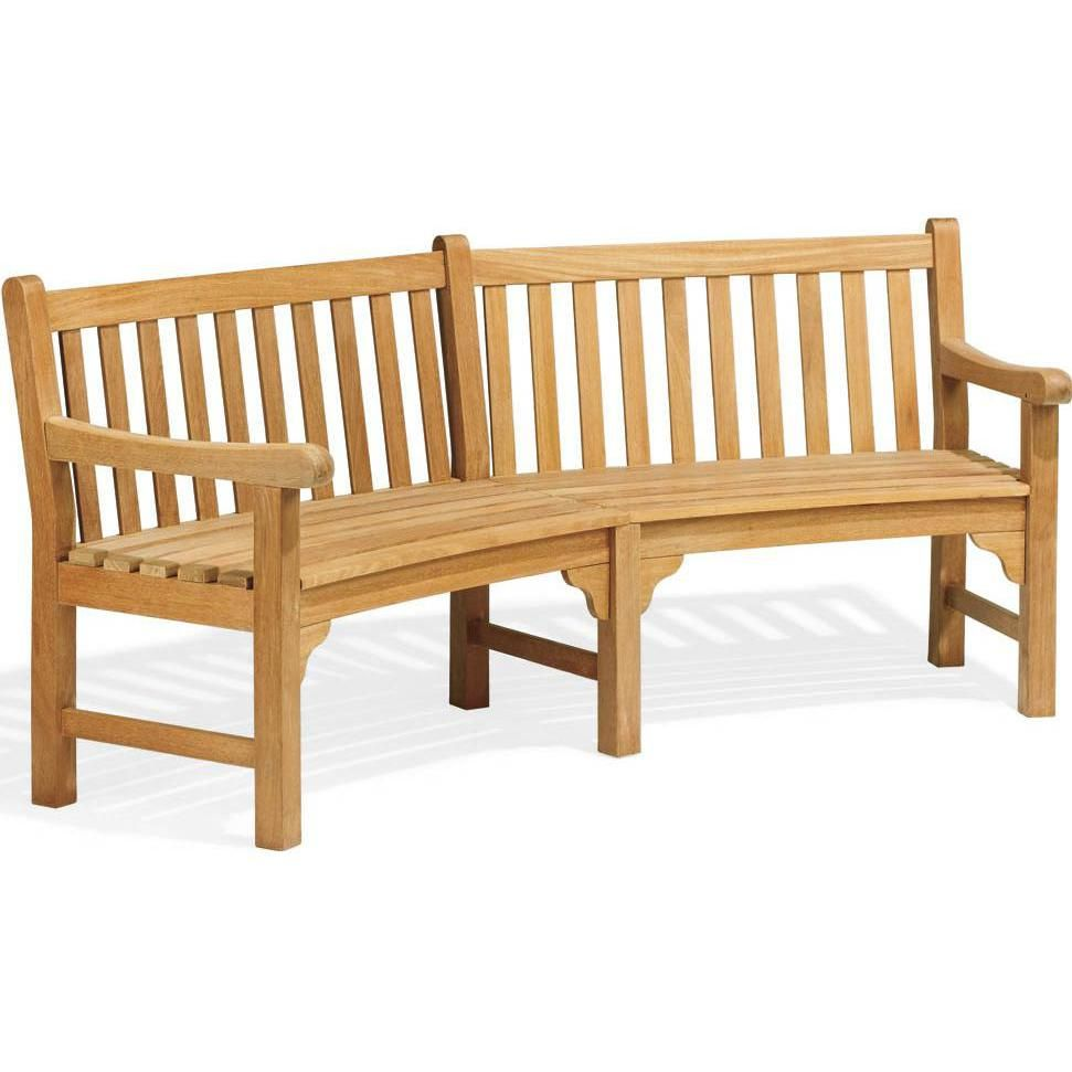 Essex 83 Inch Natural Shorea Curved Patio Bench By Oxford Garden : Ultimate  Patio