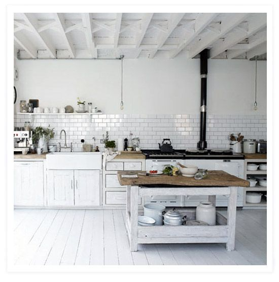 cucina shabby loft