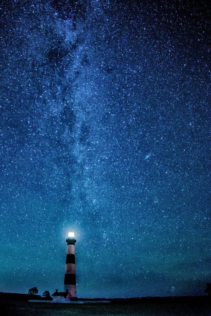 Under the Stars - Bodie Lighthouse | Star sky, Night skies ...