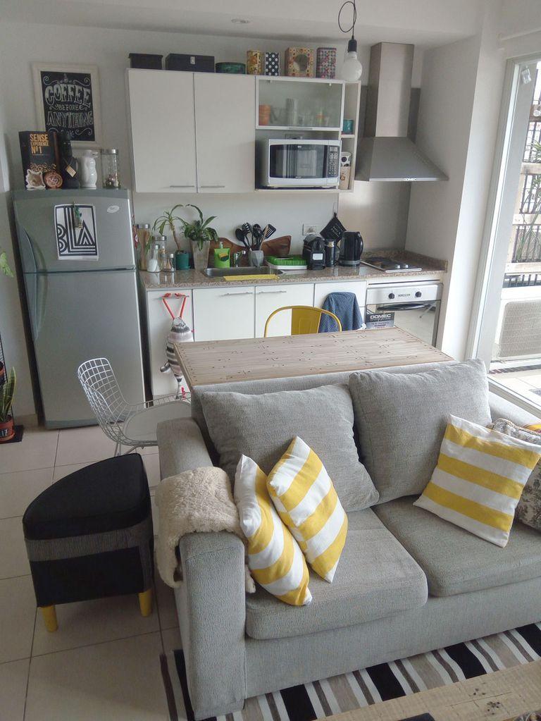 Un apartamento de soltero con mucho DIY monoambiente Pinterest - departamento de soltero moderno pequeo