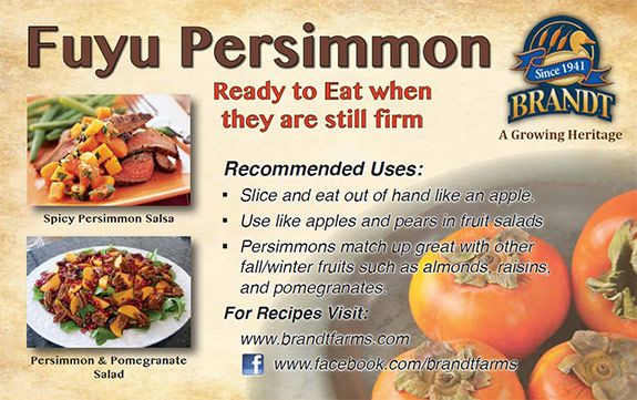 Fuyu Persimmons are considered the most versatile #persimmon because of their many possible uses & companion ingredients. They can be eaten like an apple or used in a variety of recipes! http://simplesimmons.com/recipes.php