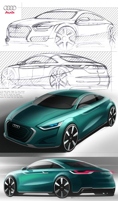 Audi Tt Design Sketch Nice Ride Pinterest Sketches Cars And