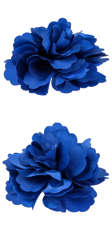 Silk flower hair clip wedding corsage flower clip 8cm dark blue silk flower hair clip wedding corsage flower clip 8cm dark blue mightylinksfo
