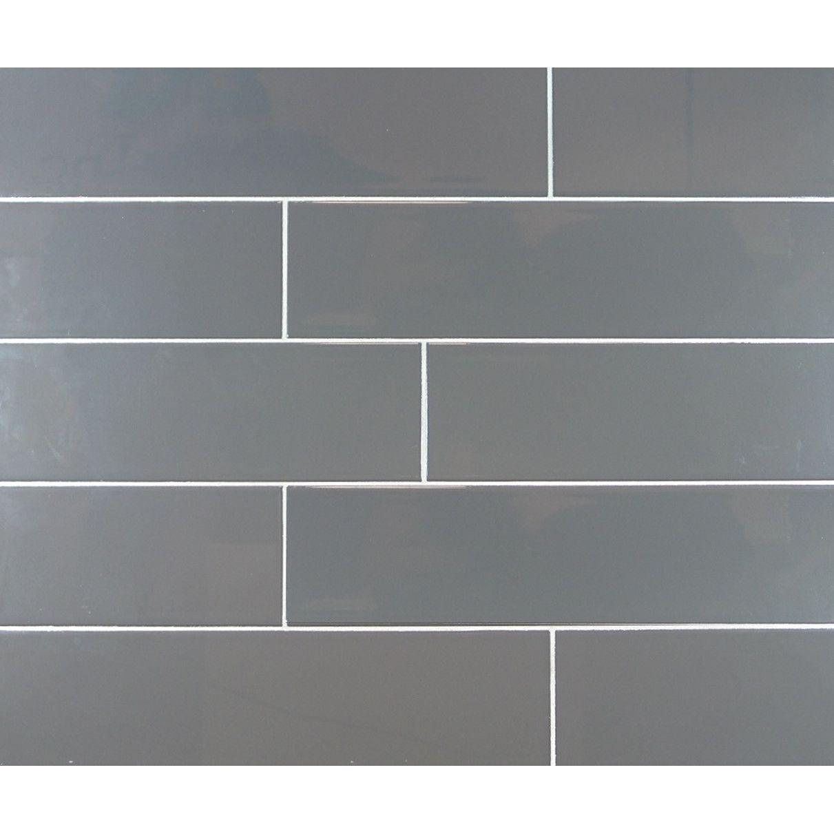 Mulia Tile Classic Subway Tile In Dark Gray Shotgun House