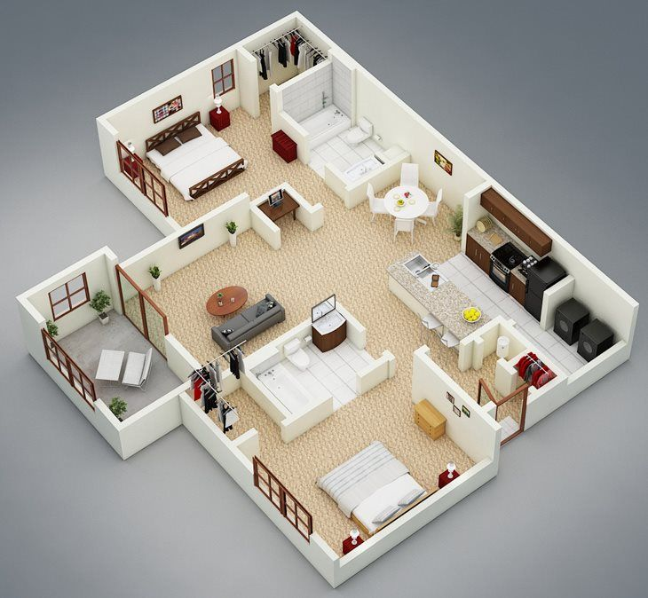 Like Our Willows Floor Plan The Willows With Sunroom Is A 2br 2b Apartment Home The Enclosed S Model House Plan Small House Design Plans Home Building Design