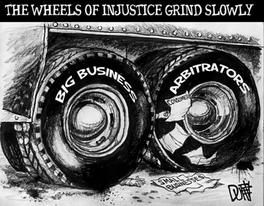 Jim Hightower Arbitration sounds fair, but forced