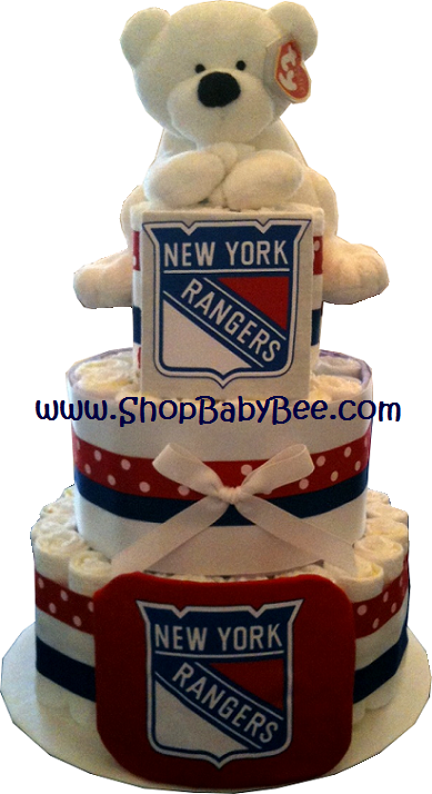 NY Rangers Diaper Cake - Baby Shower Gift | Party Planning & Gift ...