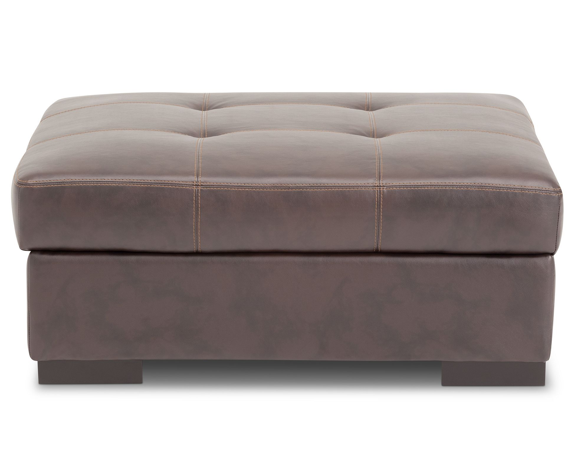 Oversized Storage: Barron Storage Ottoman In Rustic Brown Faux Leather Lets  You Keep Your Belongings Hidden In Style And Can Function As A Coffee Table  Or ...