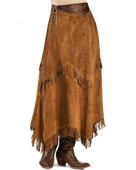 ab7fdc118 Kobler Leather Women's Nancy Leather Fringe Skirt - Take your western look  to the next level with this bold skirt by Kobler Leather!