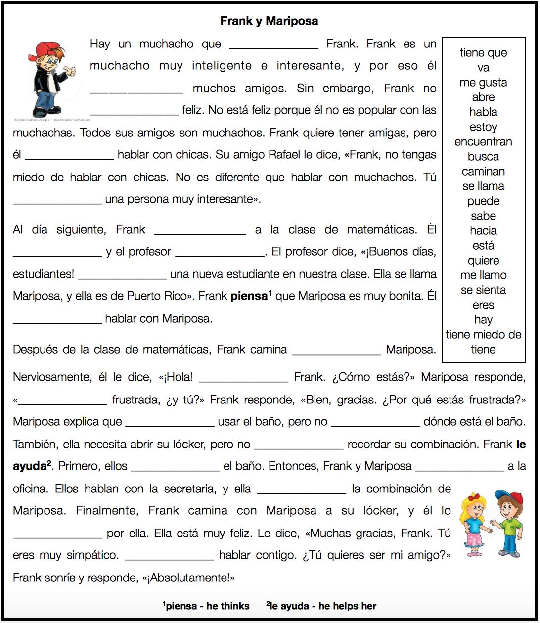 Spanish 1a Midterm By Martina Bex The Comprehensible Classroom  # Muebles Es Hiato O Diptongo