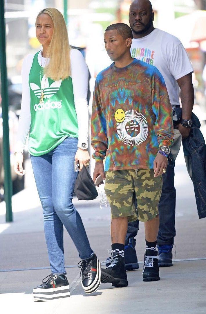 9a074e4f6 Pharrell Seen With Helen Lasichanh Wearing Cactus Plant Flea Market Shirt