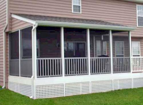 Shed roof porch for the deck pinterest porch Shed with screened porch