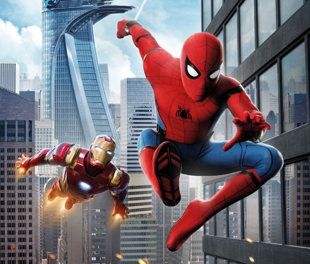 Iron Man Spider Man Homecoming Movie Swing Fly 4k Wallpaper