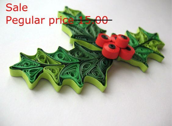 sale quilled mistletoe christmas decoration holiday ornaments paper quilling