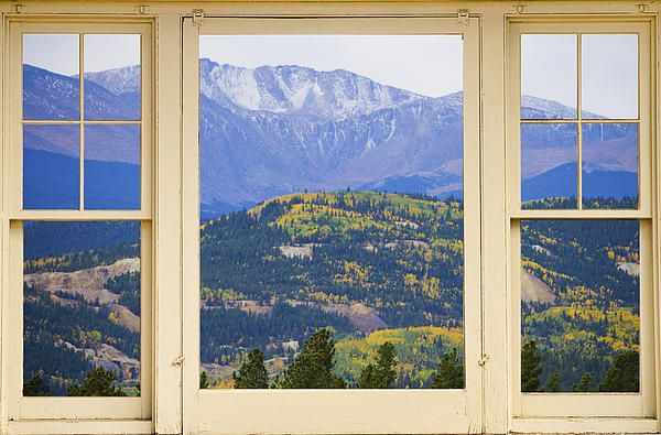 A Beautiful Colorful Colorado Autumn View Of Rocky