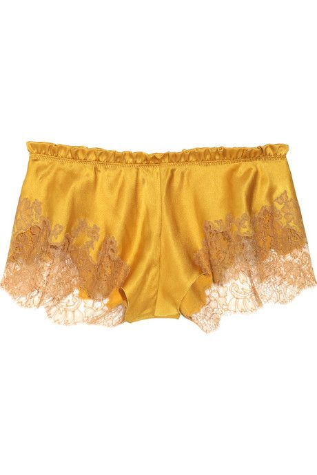 fe76dc9a83d83 .love these, and that mustard color, amazing Silk Satin, Lace Shorts,