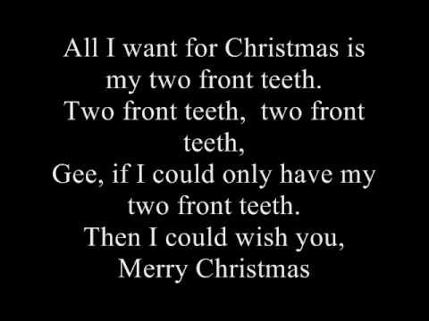 Nat King Cole His Trio All I Want For Christmas Is My Two Front Teeth Lyrics Christmas Tunes Christmas Songs Lyrics Happy Song