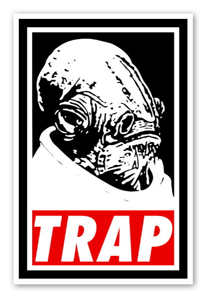 Ackbars trap sticker white