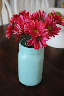 spray painted mason jar | DIY | Spray paint mason jars, Dorm