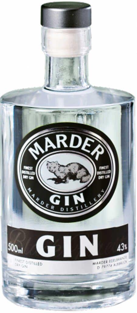 gin von marder in der 0 5l flasche mit 43 vol alc. Black Bedroom Furniture Sets. Home Design Ideas