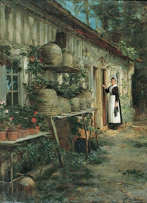 Henry Bacon. The Beekeeper's Daughter, 1881