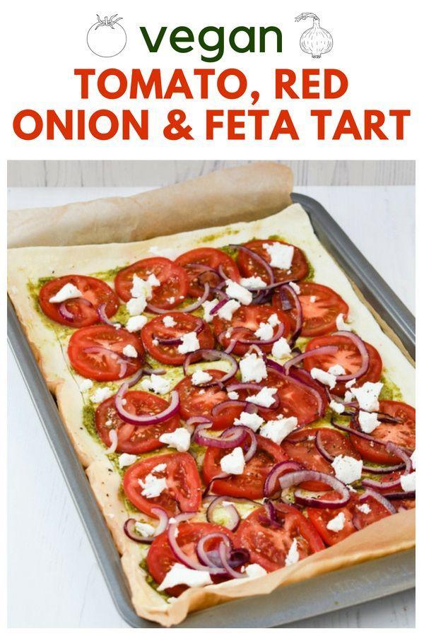 Puff Pastry Tomato Onion Feta Tart