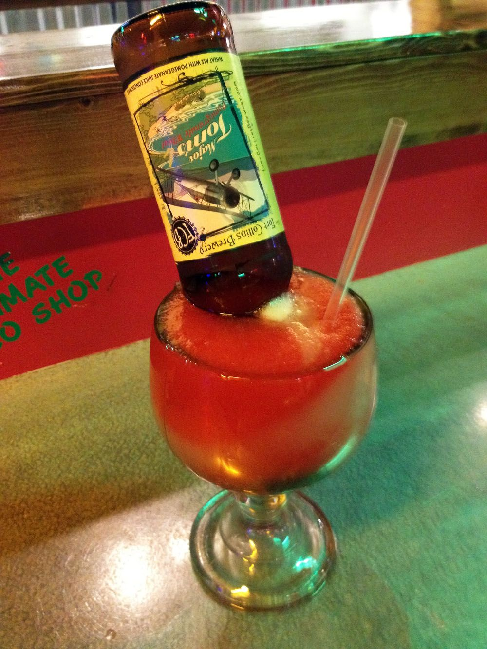 The Pomarita From Fuzzy S Taco Shop Really Is Delicious With A Fantastic Mix Of Sweet Margarita Mix And Malty Fr Wheat Beer Mexican Food Recipes Margarita Mix