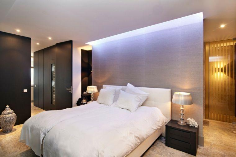 Wunderbar Pared Separadora Gris En El Dormitorio Moderno